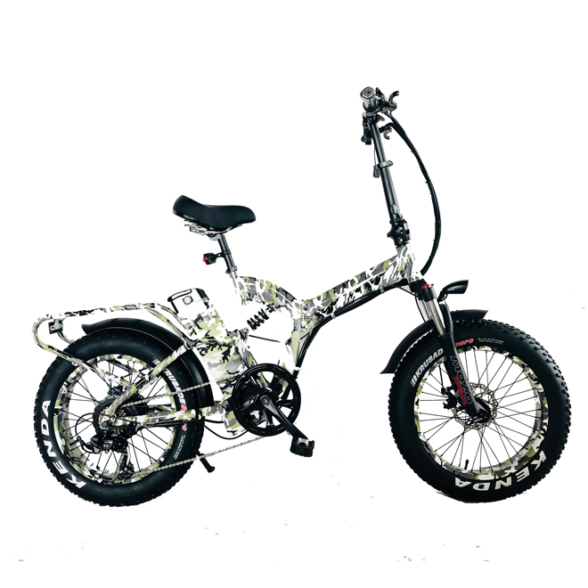 20 inch 750W fat tire electric bicycle